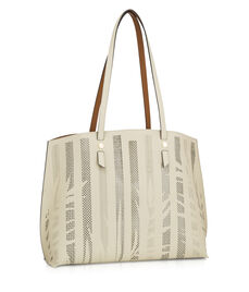 West 57th Unlined Leaf Print Tote