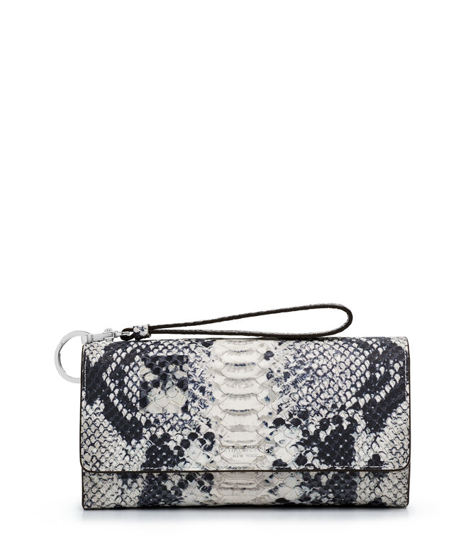 Uptown Out & About Snake Embossed Organizer Wallet