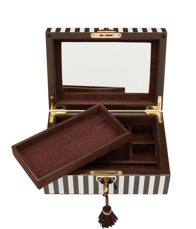 Henri Bendel Striped Medium Jewelry Box