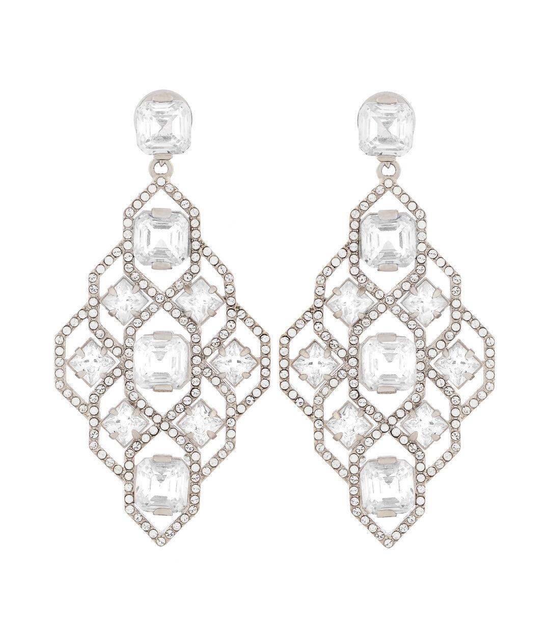 Classic Diamond Chandelier Earrings – Black Diamond Chandelier Earrings