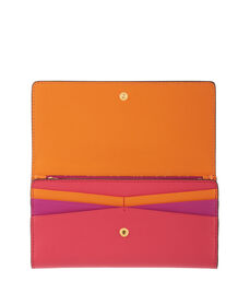 West 57th Tri-Fold Color Blocked Wallet