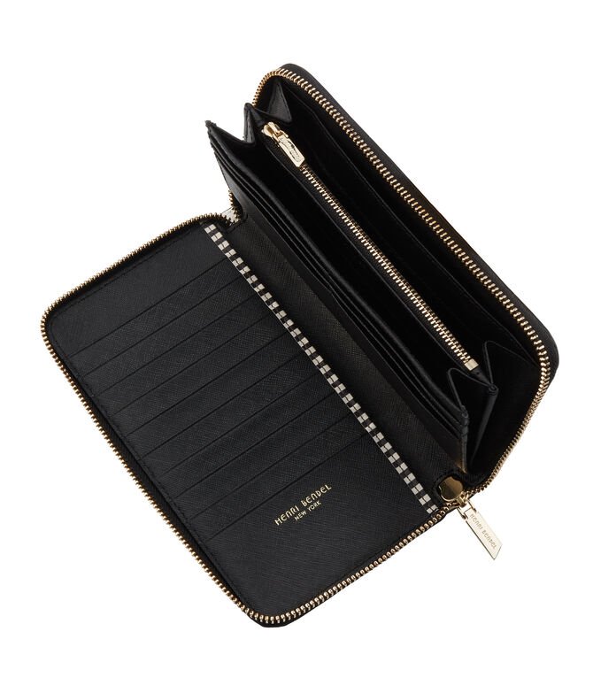 Centennial Stripe Zip Around Continental Wallet